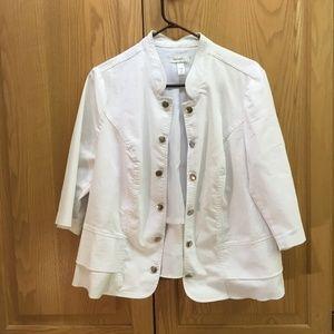 DressBarn Women's white blazer